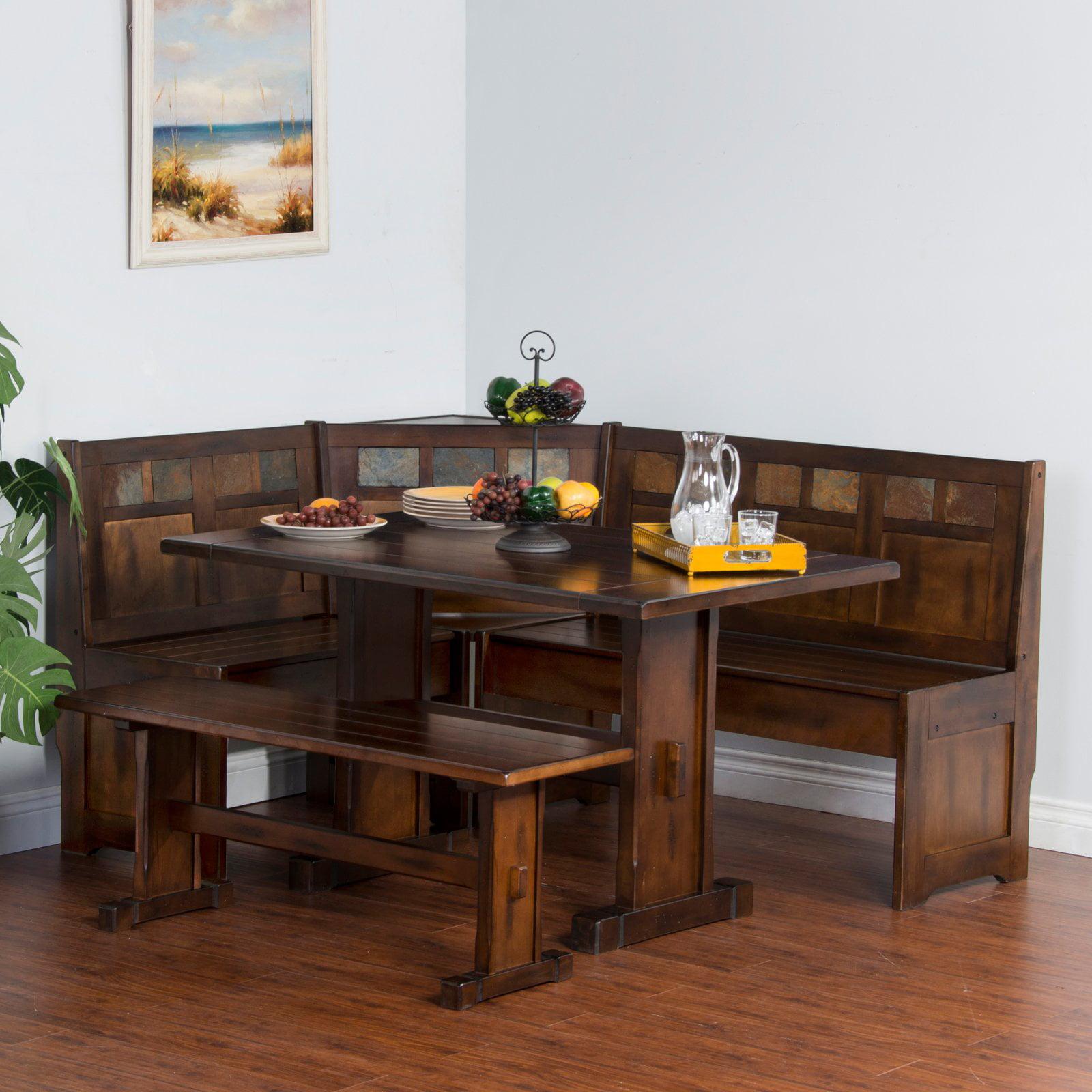 Sunny Designs Santa Fe 4 Piece Breakfast Nook Set