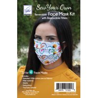 Sew-Your-Own Reusable Face Mask Kit, Assorted Fabrics