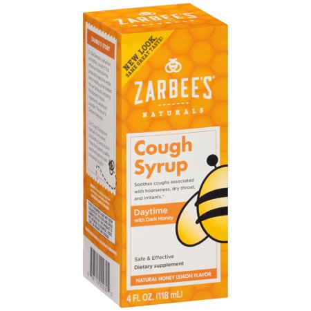 Zarbee S Naturals Adult Daytime Cough Syrup Honey Lemon