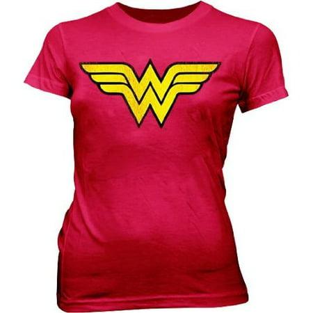 Wonder Woman Logo T-Shirt Superhero Womens Adult Costume Comic Book Hero Wonder Woman T-shirt