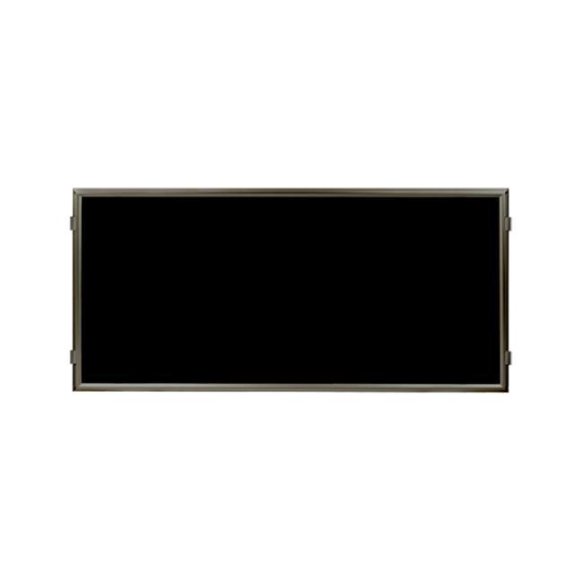 Lavi Industries 50-HFP1002-MB-BK Hinged Frame Sign Panel And Barrier, Matte Black