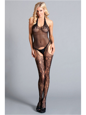 76430a260 Product Image Halter Suspender Bodystocking. Be Wicked
