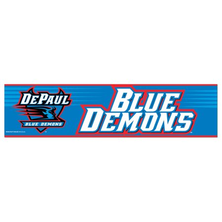 3 Inch Tubular Bumpers - DePaul Blue Demons Official NCAA 12 inch x 3 inch  Bumper Sticker by Wincraft