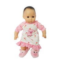 My Brittany's Piggy Nightgown for Bitty Baby Dolls- Bitty Twins Dolls - 15 Inch Doll Clothes