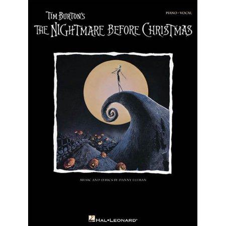 Tim Burton's Nightmare Before Christmas (Piano Vocal Series) (This Is Halloween Nightmare Before Christmas Piano)