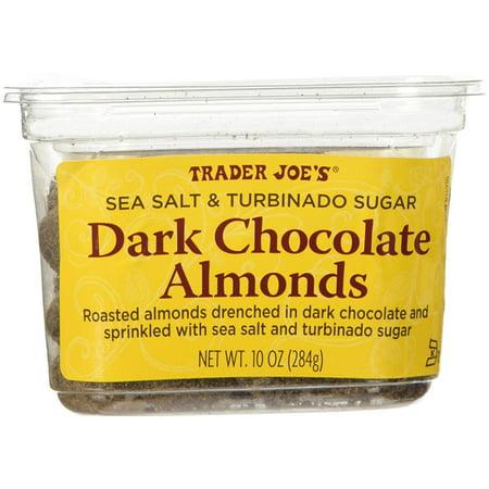 Trader Joe's Sea Salt & Turbinado Sugar Dark Chocolate Almonds 10