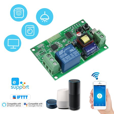 Sonoff DC5V / AC85-250V Wifi Switch Wireless Relay Module Smart Home Automation Modules Phone APP Remote Control Timer Switch Compatible with Amazon Alexa Google Home Voice