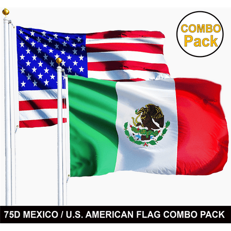 G128 - Wholesale LOT of 3' X 5' USA AMERICAN & 3' x 5' ft MEXICO Mexican Flag