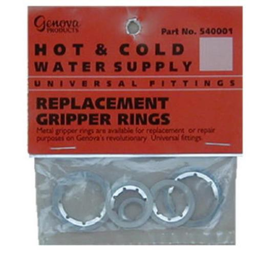 Genova #540001 6PK Metal Gripper Ring