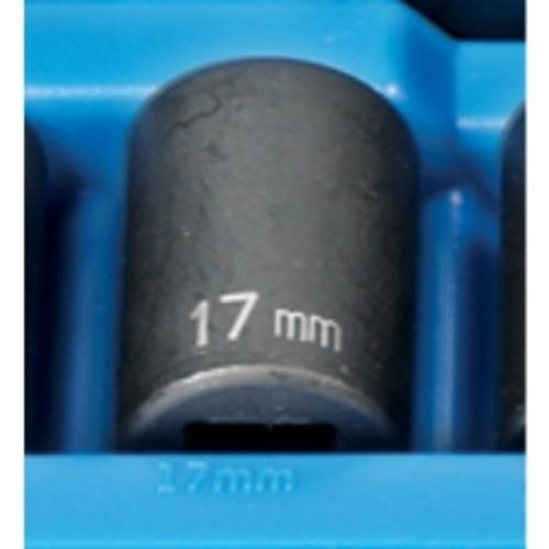 "Grey Pneumatic 2117M 1/2"" Drive 12 Point Metric Impact Socket 17mm"