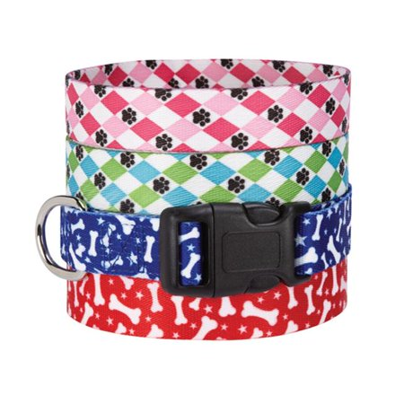 Pooch Patterns Collar 6-10 In Red Bone - image 1 of 1