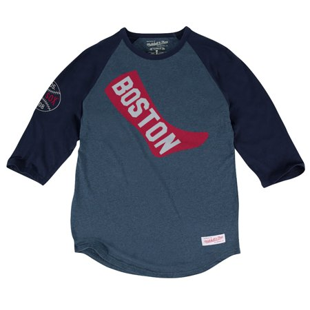 "Boston Red Sox MLB Mitchell & Ness ""Top of the Inning"" Mens 3 4 Sleeve Shirt by"