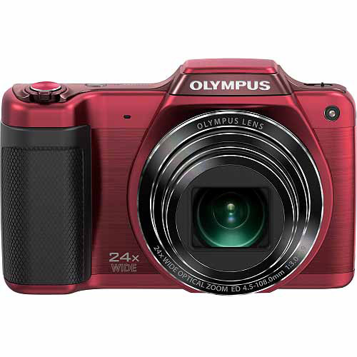 Olympus Traveller SZ-15 16 Megapixel Compact Camera, Red