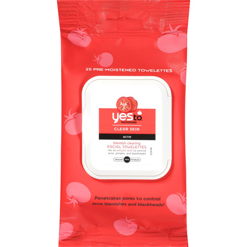 Yes To Tomatoes Blemish Clearing Facial Towelettes, 25ct