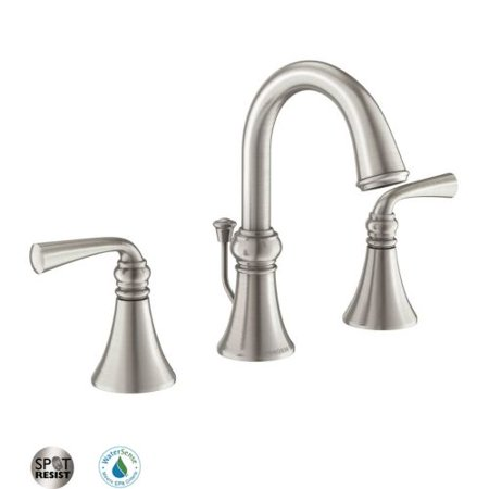 026508237359 Upc Moen Wetherly Spot Resist Brushed Nickel 2 Handle Widespread Watersense Labeled
