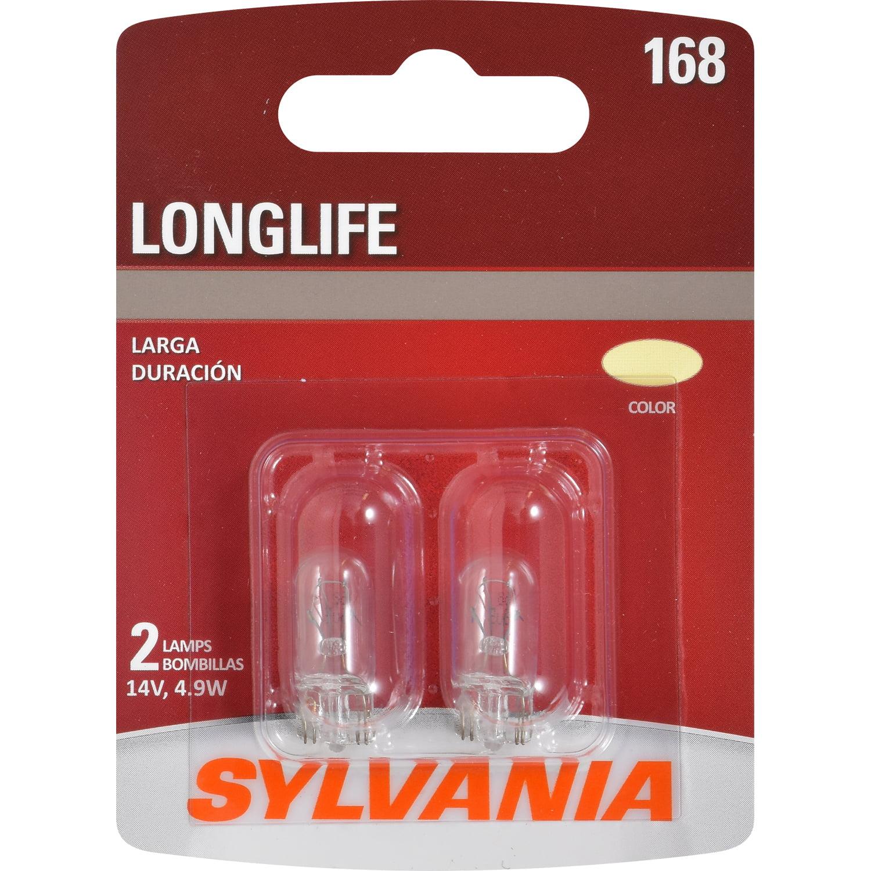 SYLVANIA 168 Long Life Mini Bulb, Pack of 2