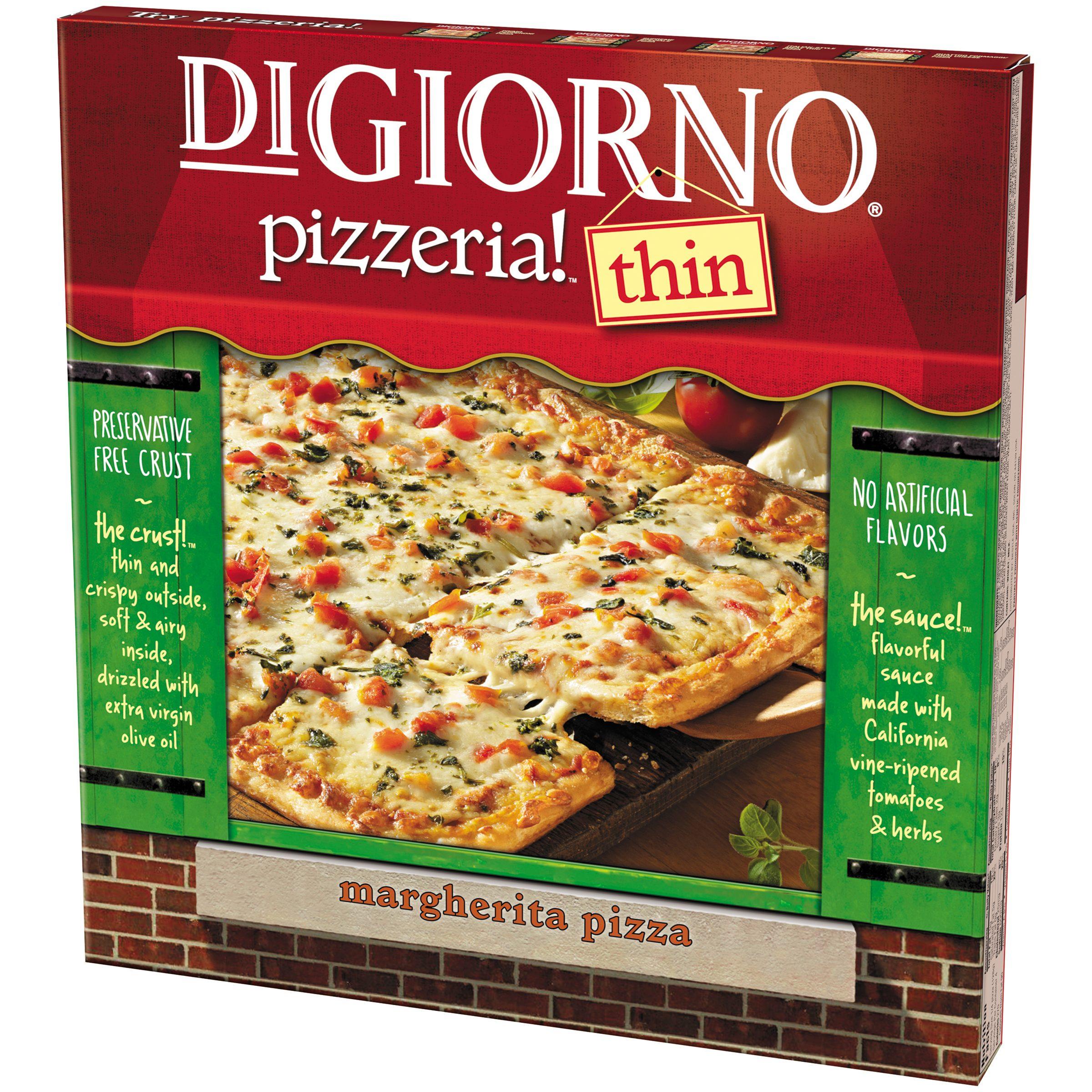 Digiorno Pizza Digiorno Pizzeria Thin Crust Margherita Pizza 18 Ozbox
