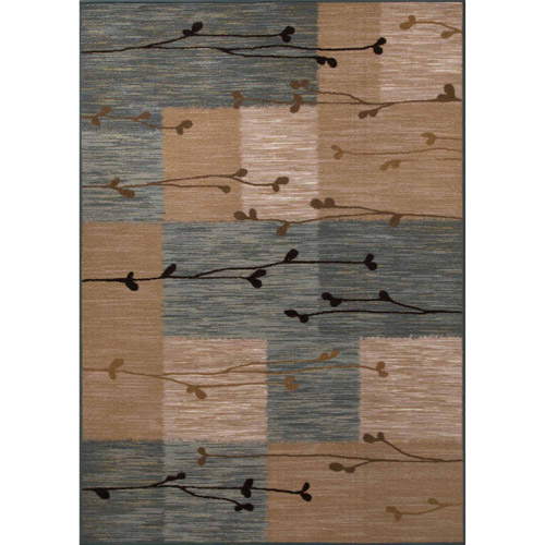 "Mainstays Transitional Twig Rug, Beige, 1'7.5"" x 2'10"""