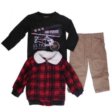 Kids Headquarters Infant Boys Air Force Shirt Plaid Jacket & Pants (Role Of Pakistan Air Force In 1965 War)