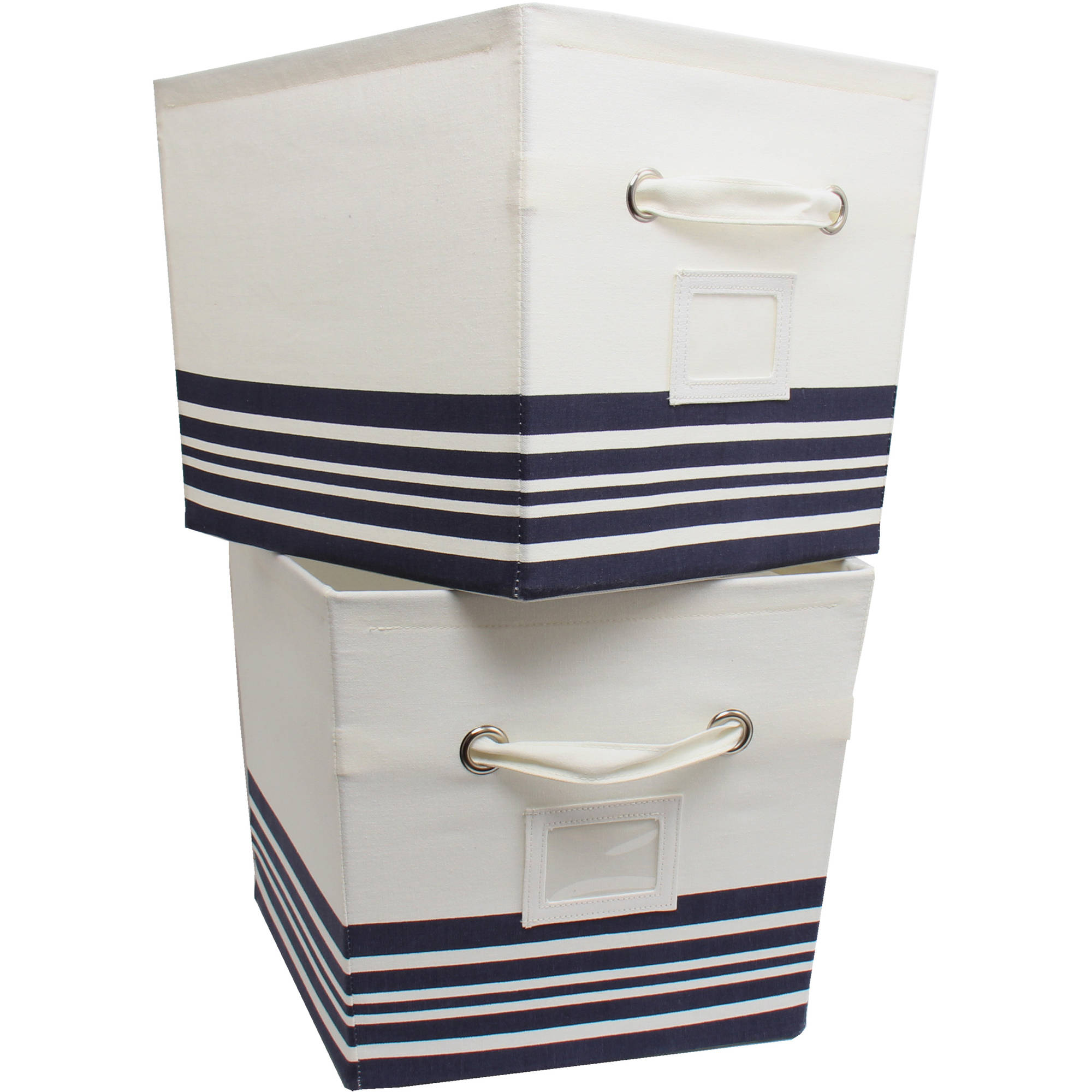 Mainstays Large Canvas Bins, 2-Pack, Multiple Colors