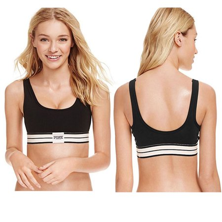 8a567acb67c7f Victoria s Secret - Victorias Secret PINK Ultimate Unlined Caged Side  Sports Bra (Black
