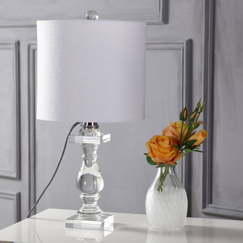 "Kellen 20.75"" Crystal LED Table Lamp, Clear by JONATHAN Y"