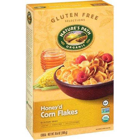 Nature's Path Organic Gluten Free Selections Honey'd Corn Flakes Cereal, 10.6 oz, (Pack of 12) Low Salt Organic Cereal