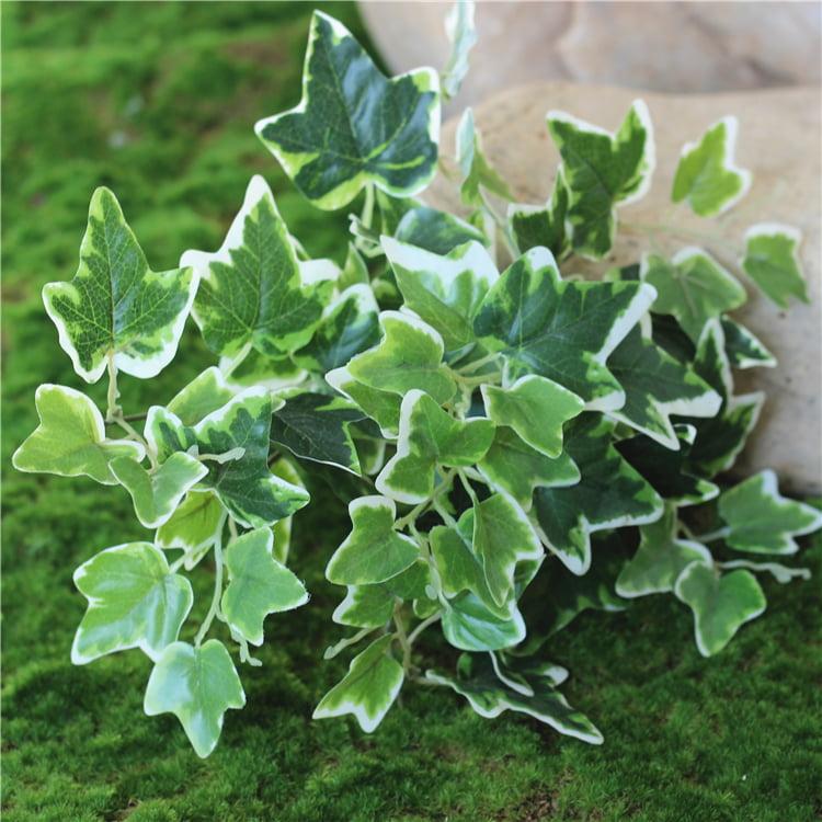 3pcs Artificial Shrubs Fake White Potato Bouquets for Home Decor, Unpotted, (White&Green)