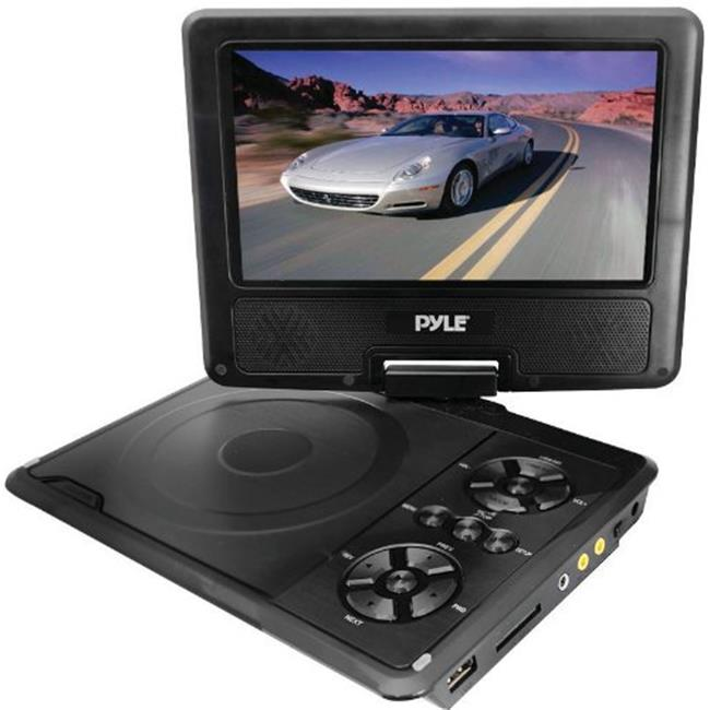 SOUND AROUND-PYLE INDUSTRIES PDH7 7 in. Portable TFT-LCD Monitor with Built-In DVD Player MP3-MP4-USB SD Card Slot
