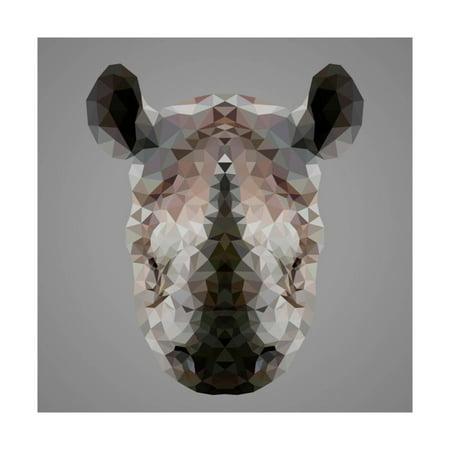 Rhinoceros Low Poly Portrait Print Wall Art By kakmyc](Low Poly Portrait)