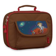 Bixbee Boys Girls Brown Monkey Insulated Flap Pocket Lunch Box