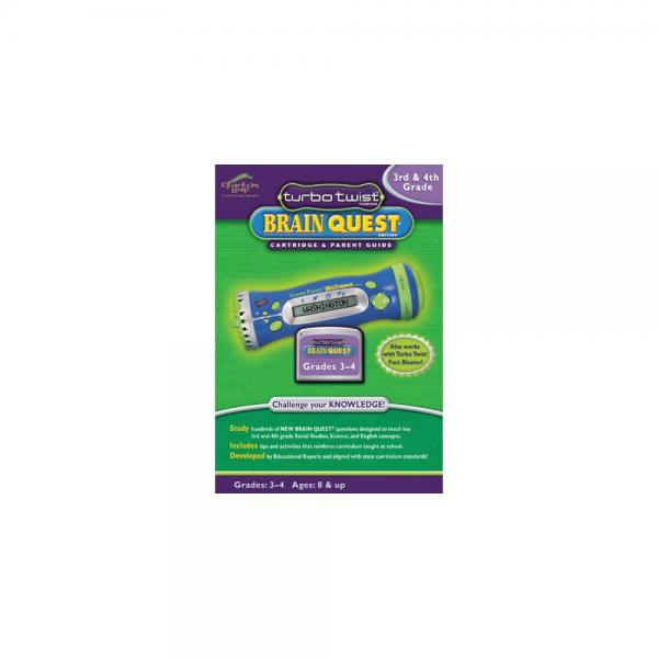 LeapFrog: Turbo Twist Brain Quest Cartridge and Parent Guide 3rd and 4th Grade by