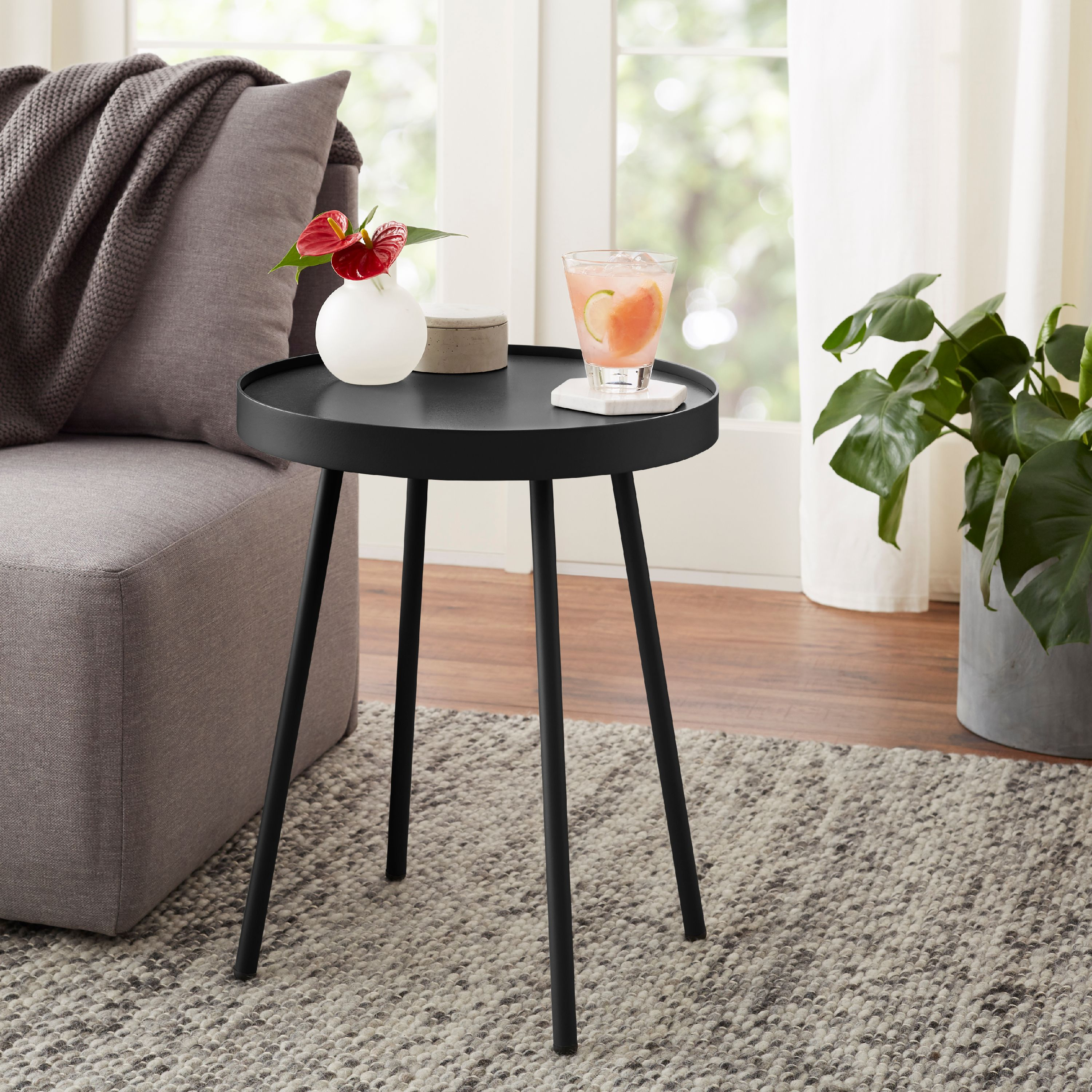 Mainstays Arlo Round Accent Table, Multiple Finishes