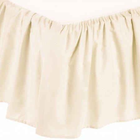 American Baby Company 100 Percent Cotton Percale Mini Crib Bed Skirt  Ecru