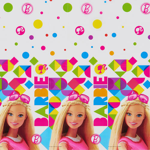 "Barbie Plastic Table Cover 54"" x 96"""