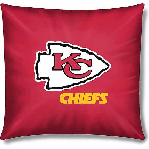 """NFL Kansas City Chiefs Official 15"""" Toss Pillow"""