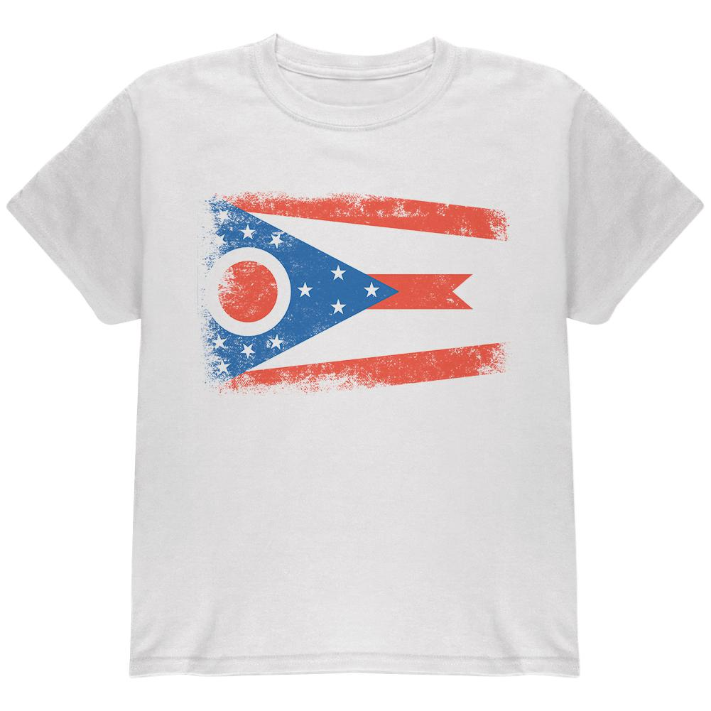 Born and Raised Ohio State Flag Youth T Shirt