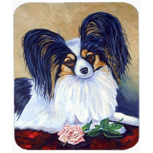 9.5 x 8 in. Papillon A Rose For You Mouse Pad, Hot Pad or Trivet