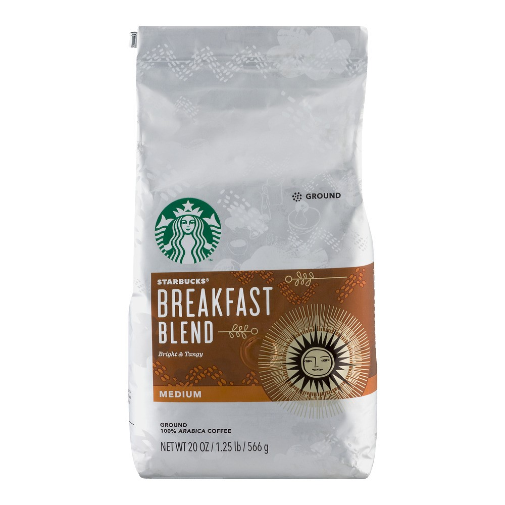 Starbucks Medium Roast Ground Coffee, Breakfast Blend, 20 Oz