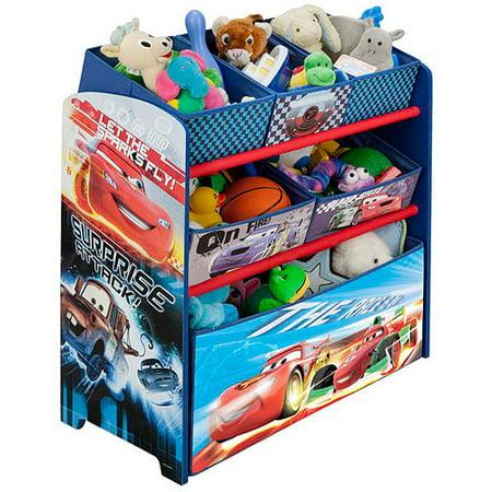 Delta Children Disney Cars Multi Bin Toy Organizer