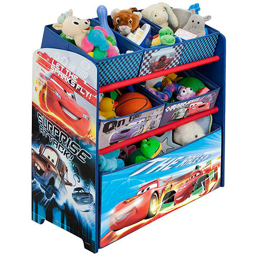 Lovely Disney Cars Multi Bin Toy Organizer