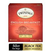 Twinings of London English Breakfast Tea Bags, 50 Ct., 3.53 oz.