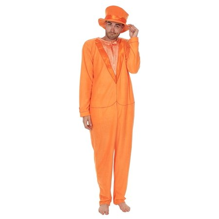 Dumb and Dumber Orange Tuxedo One Piece Pajama with Top Hat](Halloween Dub)