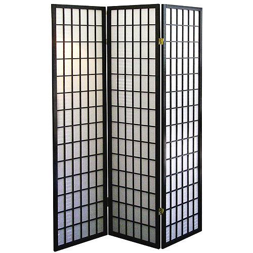 3 Panel Room Divider Black Walmart Com