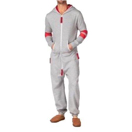 (SkylineWears Men's Canadian Flag One Piece Playsuit Jumpsuit Non Footed Pajamas)