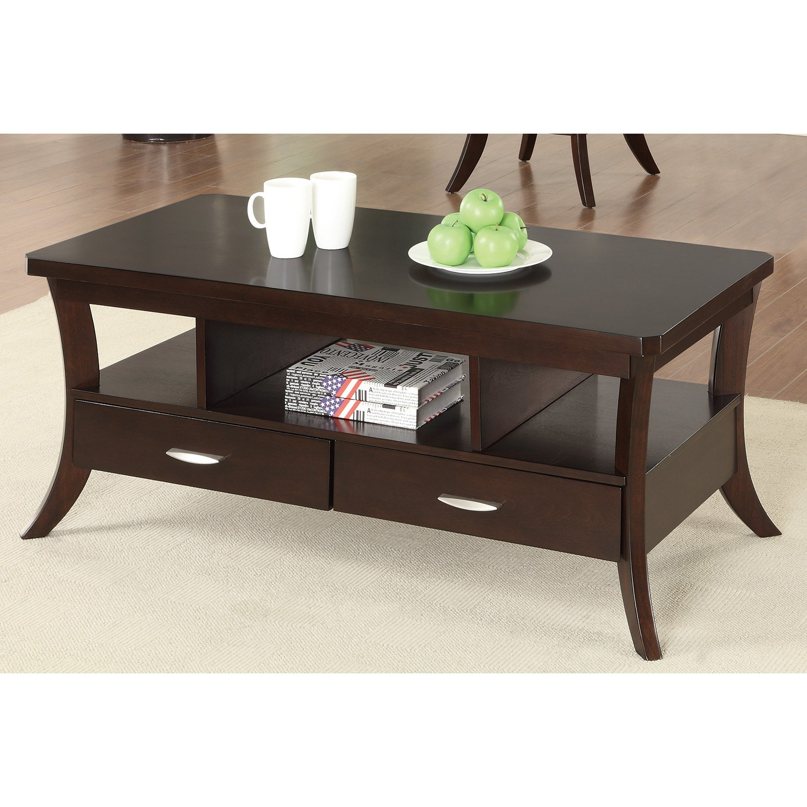 Coaster Furniture Wood Coffee Table   Espresso