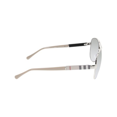 5cb08269cb9c1 Burberry Women s Gradient BE3080-10056V-59 Silver Aviator Sunglasses -  image 1 ...