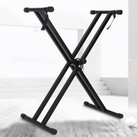 VBESTLIFE Keyboard Stand,Portable X-Style Keyboard Stand Double Braced Music Electric Organ Holder Adjustable Height