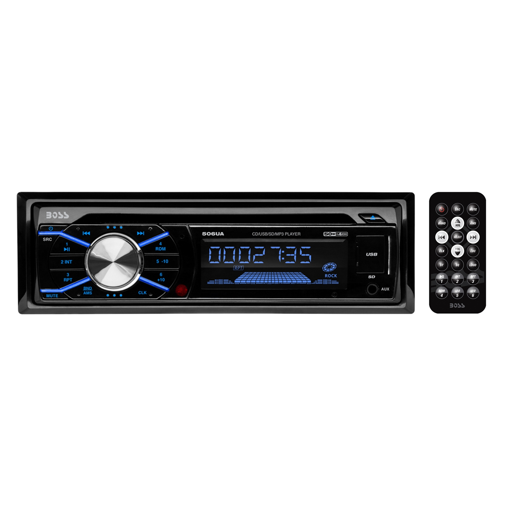 New! Boss 506UA In Dash Car Stereo CD MP3/USB/SD Player