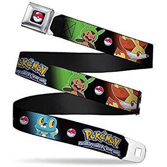 Seatbelt Belt - Pokemon - V.102 Adj 24-38' Mesh New pka-wpk086 - image 1 of 1